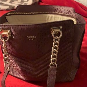 Burgundy Guess Purse and Wallet
